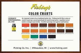 Fiebings Suede Dye Color Chart Fiebings Pro Oil Leather Dye 16 Colors 4oz 118ml Fiebing