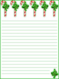 Free Printable Lined Christmas Stationery Holiday Money Savers At