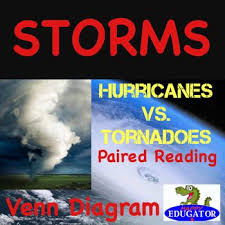 Venn Diagram Comparing Tornadoes And Hurricanes Weather Paired Reading Hurricanes Vs Tornadoes With Storms Venn