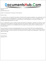 Quality Inspector Cover Letter Rome Fontanacountryinn Com