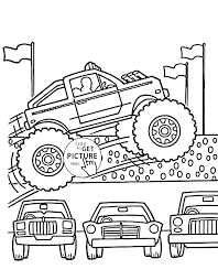 Free Monster Truck Coloring Pages At Getdrawingscom Free For