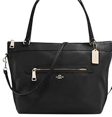 coach new with tags sale tote in black