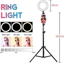Ring light 16cm LED with Light Stand 3 Mode Light ... - Amazon.com
