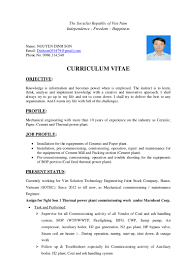 Charming Thermal Power Plant Operator Resume Ideas Example
