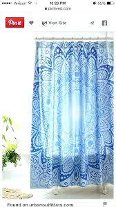 furniture trendy hipster shower curtains 45 mandala curtain home accessory blue pattern at bed bath and