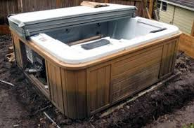 used hot tubs spadepot com Wiring Outdoor Jacuzzi empty hot tub in mud with rotting cabinet wiring outdoor spa