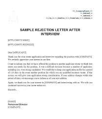 Resume Rejection Letter Job Offer Rejection Letter Template Generic Scsllc Co