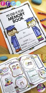 end of year memory book free end of year memory book with 3 student writing