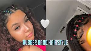 I don't have step by step pictures on this, but this hairdo is one that certainly isn't rocket science. Rubber Band Hairstyles Rubber Band Hairstyles Hair Styles Hair Rubber Bands
