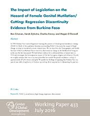 the impact of legislation on the hazard of female genital  the impact of legislation on the hazard of female genital mutilation cutting regression discontinuity