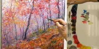 how to paint a breathtaking mountain forest