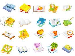 cute cartoon vector book icon