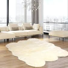 fur rugs faux rug canada small white