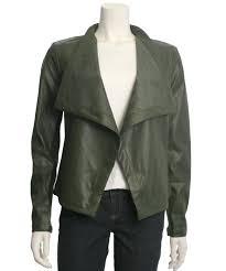 fashionville com outerwear bb dakota gracelyn open front faux leather jacket
