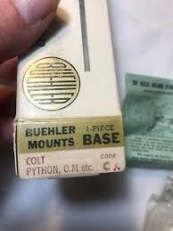 Buehler Scope Mount Chart Scope Mounts Accessories Buehler