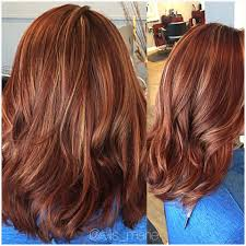 Red Copper Blonde Highlights