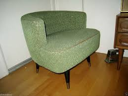 mid century modern chair vine kroehler barrel swivel