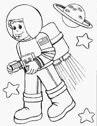 astronout in space in community helpers coloring page   netartastronout in space in community helpers coloring page