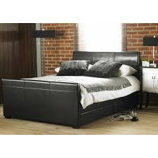 Cheap Hyder Living Monza 4 Drawer Black Faux leather bed frame for ...