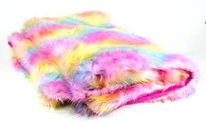image 0 pink faux fur rug blush sheepskin 5 x 7 rainbow wave on small faux fur rug