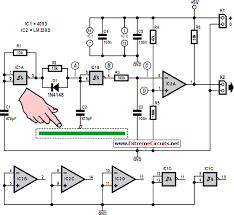 how to build simple capacitive touch sensor circuit diagram simple capacitive touch sensor circuit diagram
