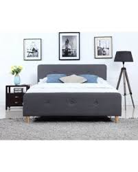 Divano Roma Furniture Mid Century Modern Linen Fabric Low Profile Bed Frame (Queen, Dark Grey) from Walmart | People