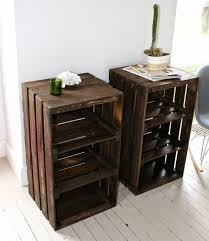 pallet crate furniture. Wood Crate Handmade Table Furniture Nightstand By CamilleMDesigns Pallet R