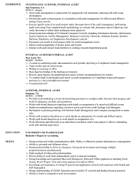 Auditor Resume Sample Internal Auditor Resume Sample Audit Manager Examples Template 48