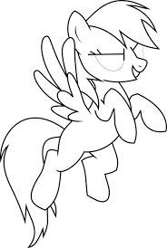 Free My Little Pony Coloring Pages Fluttershy Base