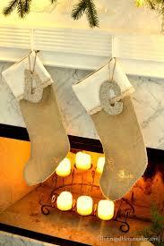 diy burlap lace stockings