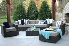 patio furniture sofa ottom d garden outdoor wicker clearance sets costco
