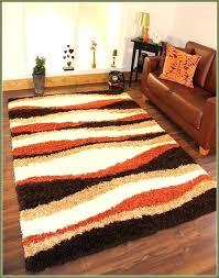 orange brown rug orange and white rug modern contemporary super orange red brown rug