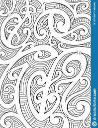 Maori Style Ornament Stock Vector Illustration Of Maori 127715677