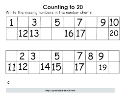 1 100 Worksheets Kindergarten Counting To For Number Free Numbers 0 ...