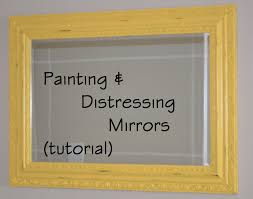 diy painted mirror frame. How+to+make+a+mirror+frame   Painting And Distressing A Diy Painted Mirror Frame O
