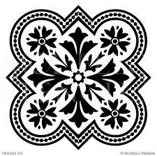 Decorative Tile Designs Tile Stencils for Custom Painted Floor Walls Ceiling Modello 96