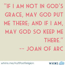 saint joan of arc quotes hold high the cross