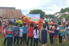 """Chương trình """" Vui tết trung thu"""" cho các em thiếu nhi tại buôn Dranh A, xã  Đăk Liêng - Đài TT-TH Huyện Lăk"""