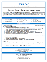 Resume For Counselor Career Counselor Resume Example Guidance And College Resume Samples