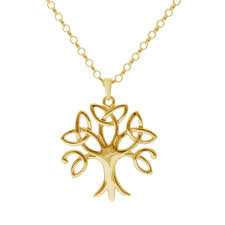 tree of life pendant 3 yellow gold