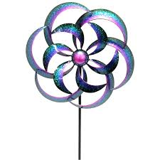 metal wind spinner stake at home