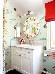 kids bathroom wall decals bathroom vibrant red roman shade also unique  mirror frame design vibrant red . kids bathroom ...