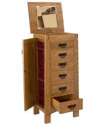 Red Oak Bedroom Furniture Modesto Jewelry Armoire Amish Direct Furniture