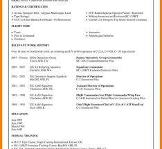Pilot Resume Cadet Pilot Resume Sample Commercial Pilots Entry Air Force 38