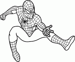 Super hero on the background of the web. Spiderman Drawings For Kids Coloring Home