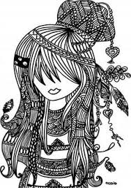 Small Picture Free printable adult coloring page Female girl doodles Woodstock