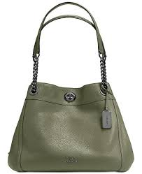 COACH. Turnlock Edie Shoulder Bag in Pebble Leather. 16 reviews. main  image  main image ...