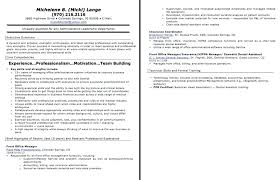 Examples Of Office Manager Resumes Letter Resume Directory