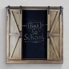 decorative chalkboards for various functions. Crystal Art Gallery Wood/Metal Chalkboard Message Board With Barn Doors Decorative Chalkboards For Various Functions O