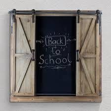 crystal art gallery wood metal chalkboard message board with barn doors